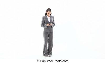 affaires femme, texting