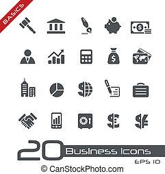 affaires finances, icônes, //, élémentsessentiels