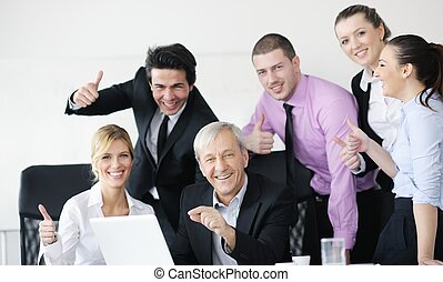 affaires gens, équipe
