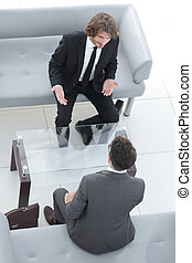 affaires gens, dialogue, entre, deux