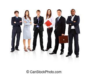 affaires gens, jeune, -, équipe, séduisant, élite