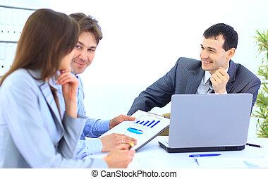 affaires gens, personnel, -, bureau, groupe, réunion