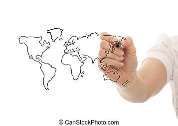affaires globales, concept