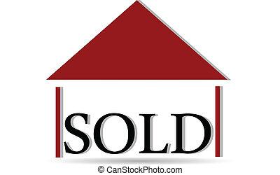 affaires immobiliers, logo, carte, 3d