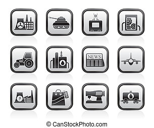 affaires industrie, icônes