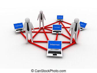 affaires internet, concept