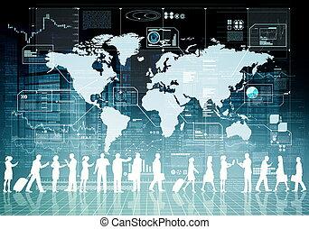 affaires internet, virtuel, gens
