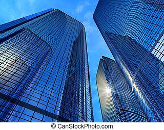 affaires modernes, bâtiments