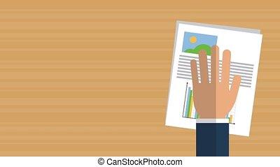 affaires rapportent, animation, hd, bureau