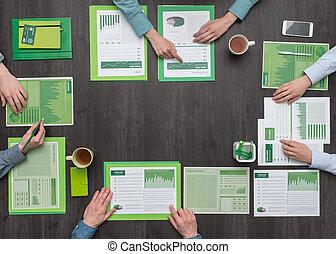affaires vertes, équipe