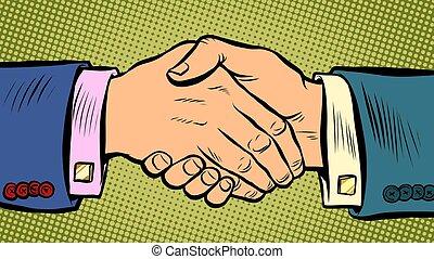 affare, affari, stretta di mano, accordo