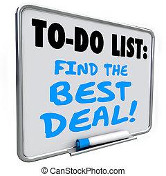 affare, elenco, vendita, risparmi, asse, messaggio, trovare, meglio