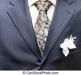 affari, abbigliabbigliamento elegante, con, cravatta, e,...