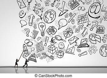 affari, amministrazione, sfida