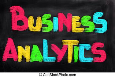 affari, analytics, concetto