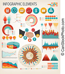 affari, appartamento, template., vector., infographics