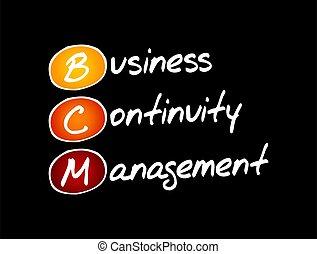affari, bcm, -, amministrazione, continuità, acronimo