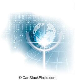 affari blu, fondo, globale, vettore, concetto