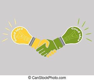 affari, buono, concetto, idea, affare