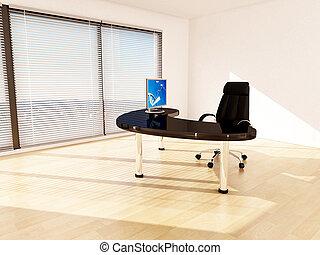 affari, concept., direttore, ufficio