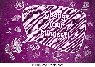 affari, concept., -, tuo, cambiamento, mindset