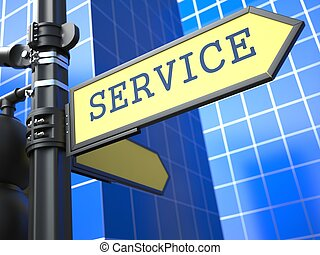 affari, concetto, segno, Servizio