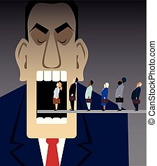 affari, corporativo, risorse umane