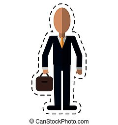 affari, cravatta, completo, linea, portfolio-dot, uomo