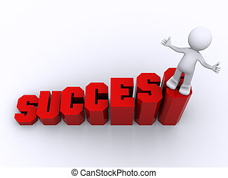 affari, crescente, business., successo, concetto