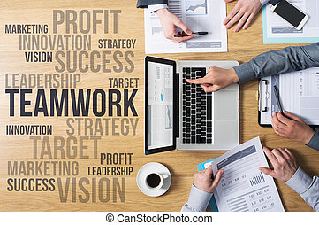 affari, e, marketing, concetti