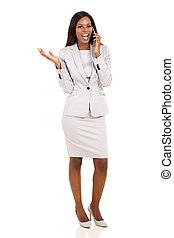 affari esecutivi, telefonata, africano, fabbricazione