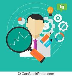 affari, esecuzione, miglioramento, persona, misura, ...