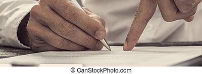 affari, esposizione, accordo, segno, nuovo, socio, dove