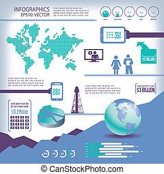 affari, globale, info-graphics