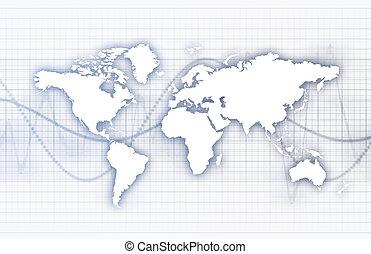 affari globali, astratto, fondo