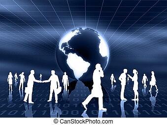 affari globali, concetto