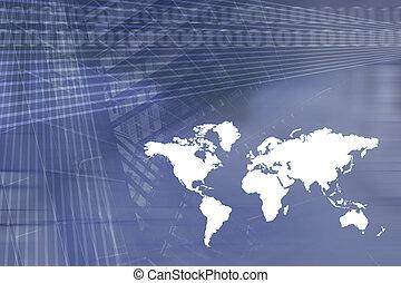 affari globali, fondo, economia