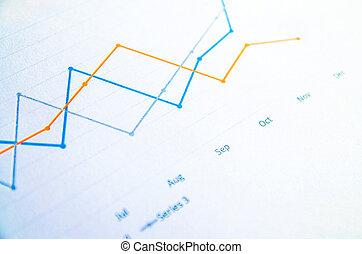 affari, grafici, e, tabelle, relazione, (graph)