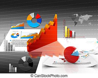 affari, grafici, tabelle