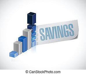 affari, grafico, illustrazione, segno, risparmi, disegno