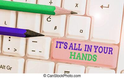 affari, hands., tutto, destino, esposizione, redine,...