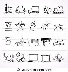 affari industria, icone