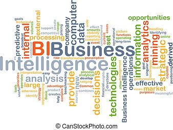 affari, intelligenza, concetto, bi, fondo