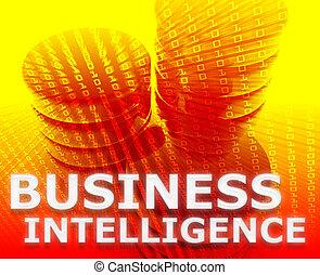 affari, intelligenza, illustrazione
