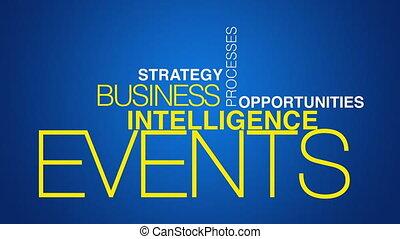affari, intelligenza, parola, nuvola