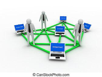 affari internet, concetto