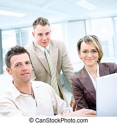affari, lavoro squadra