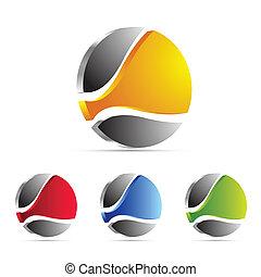 affari, logotipo, icona