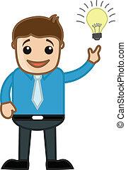 affari, mente, -, idea, vettore, came
