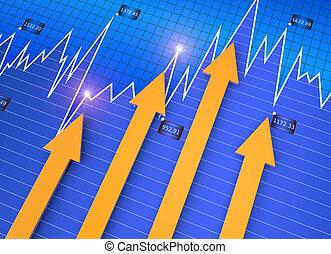 affari, mercato, grafico